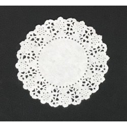 White Round Paper Doilies