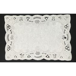 White Rectangle Paper Doilies